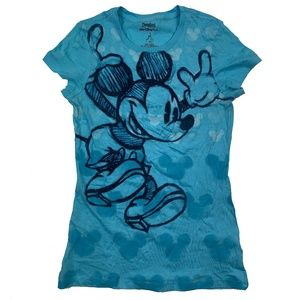 Disney Parks Mickey Mouse Chalk Sketch TShirt